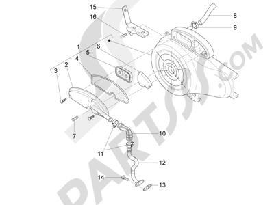 Piaggio Fly 50 4T 4V USA 2013-2015 Caja aire secundario