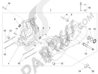 Piaggio Fly 50 4T 4V USA 2013-2015 Cárter