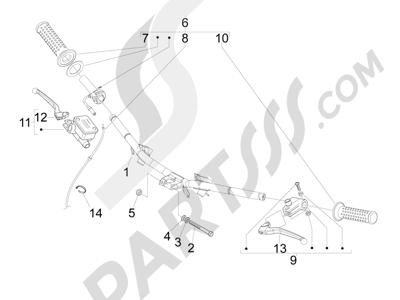 Piaggio Fly 50 4T 4V USA 2013-2015 Manillar - Bomba freno