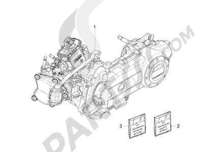 Piaggio Fly 50 4T 4V USA 2013-2015 Motor completo