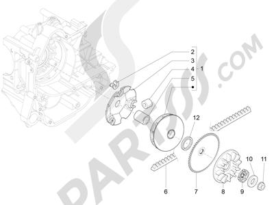 Piaggio Fly 50 4T 4V USA 2013-2015 Polea conductora
