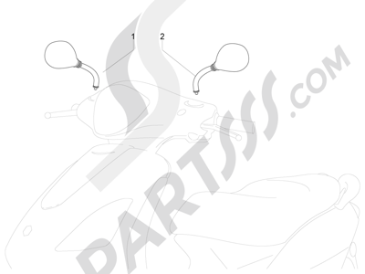 Piaggio Fly 50 4T 4V USA 2013-2015 Retrovisor es