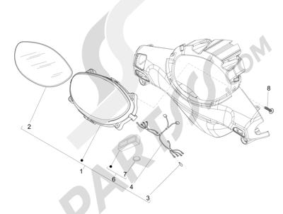Piaggio Fly 50 4T 4V USA 2013-2015 Tablero de instrumentos - Cruscotto