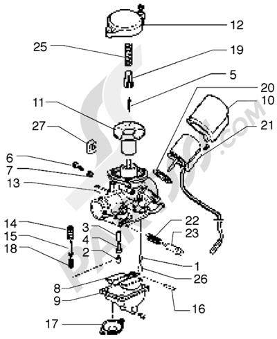 Piaggio Free 100 1998-2005 Carburador