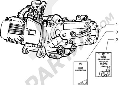 Piaggio Free 100 1998-2005 Motor