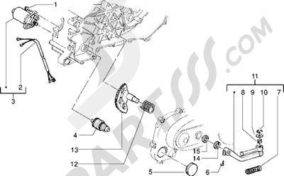 Piaggio Free FL 1998-2005 Motor de arranque-Palanca de arranque