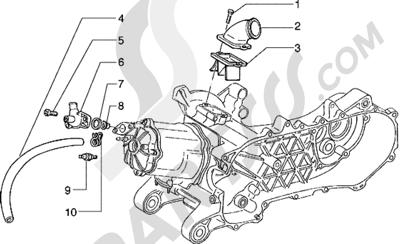 Piaggio Hexagon 125 1998-2005 Culata y racor de admision