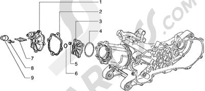 Piaggio Hexagon 125 1998-2005 Culata