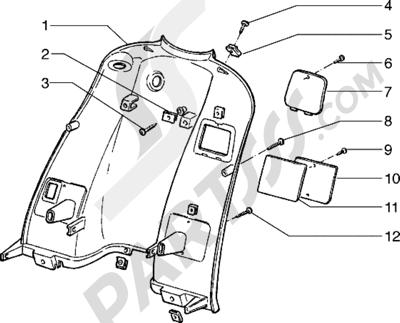 Piaggio Hexagon 125 1998-2005 Escudo trasero