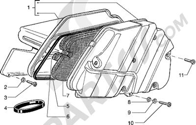 Piaggio Hexagon 125 1998-2005 Filtro de aire
