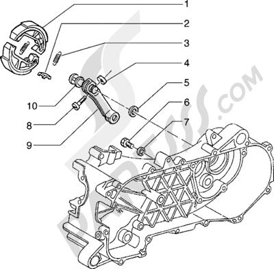 Piaggio Hexagon 125 1998-2005 Palanca freno