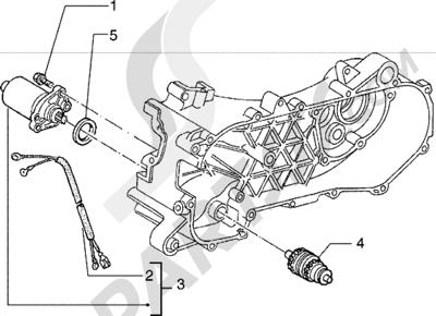 Piaggio Hexagon 150 1998-2005 Motor de arranque