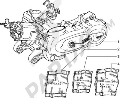 Piaggio Hexagon 150 1998-2005 Motor