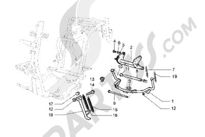Piaggio Hexagon GT 1998-2005 Caballete central-Caballete lateral