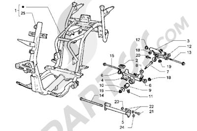 Piaggio Hexagon GT 1998-2005 Chasis
