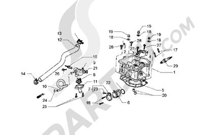 Piaggio Hexagon GT 1998-2005 Culata