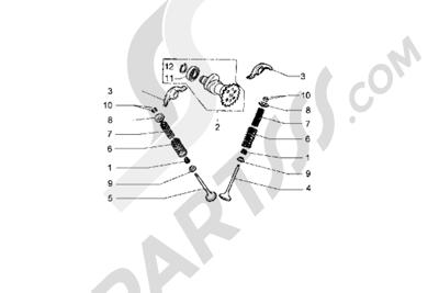 Piaggio Hexagon GT 1998-2005 Eje de eccentricas-Válvula
