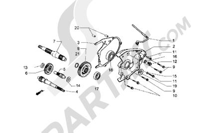 Piaggio Hexagon GT 1998-2005 Eje rueda trasera