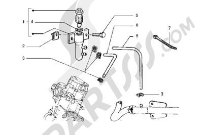 Piaggio Hexagon GT 1998-2005 Instalación de purga