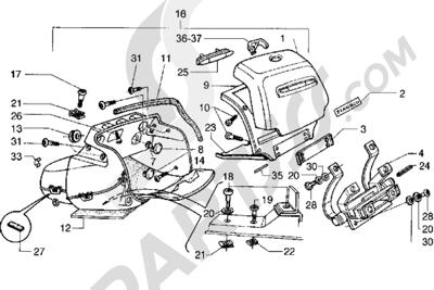 Piaggio Hexagon GT 1998-2005 Maleta