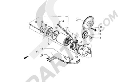 Piaggio Hexagon GT 1998-2005 Motor de arranque
