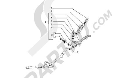 Piaggio Hexagon GT 1998-2005 Piezas que componen el manillar