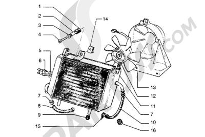 Piaggio Hexagon GT 1998-2005 Radiador