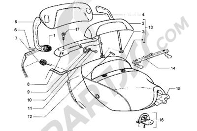 Piaggio Hexagon GT 1998-2005 Sillín