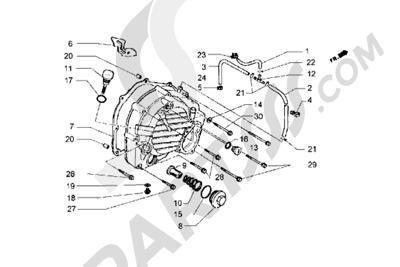 Piaggio Hexagon GT 1998-2005 Tapa carter