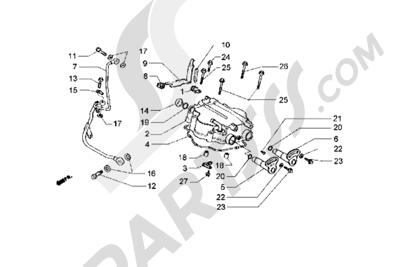 Piaggio Hexagon GT 1998-2005 Tapa culata