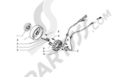 Piaggio Hexagon GT 1998-2005 Volante magnetico