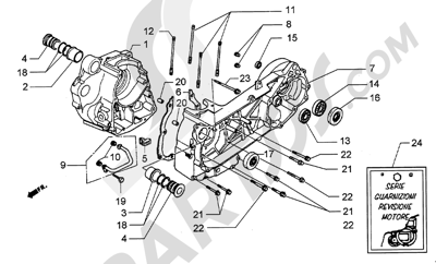 Piaggio Hexagon GT250 HASTA 1997 Cárter