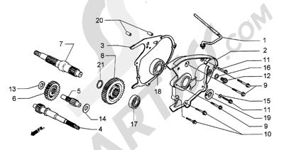 Piaggio Hexagon GT250 HASTA 1997 Eje rueda