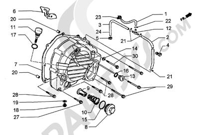 Piaggio Hexagon GT250 HASTA 1997 Tapa