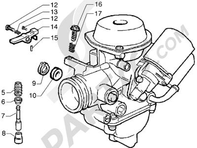 Piaggio Hexagon GTX 125 1998-2005 Carburador