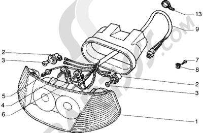 Piaggio Hexagon GTX 125 1998-2005 Faro