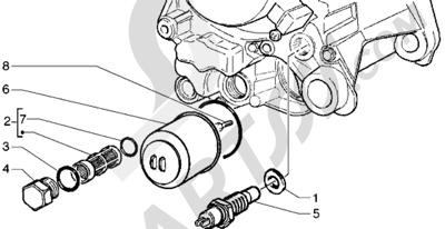 Piaggio Hexagon GTX 125 1998-2005 Filtro de aceite
