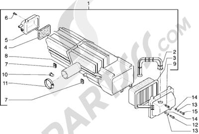 Piaggio Hexagon GTX 125 1998-2005 Filtro de aire