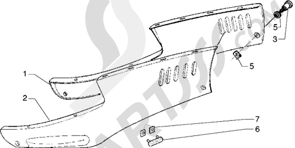 Piaggio Hexagon GTX 125 1998-2005 Protecciones laterales inf.