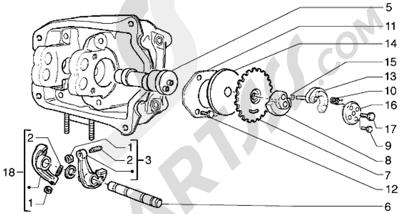 Piaggio Hexagon GTX 125 1998-2005 Soporte brazo oscilante