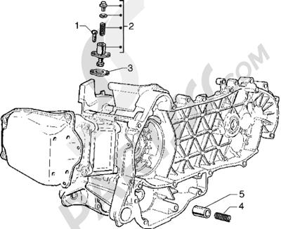 Piaggio Hexagon GTX 125 1998-2005 Tensor de cadena - Válvula by-pass