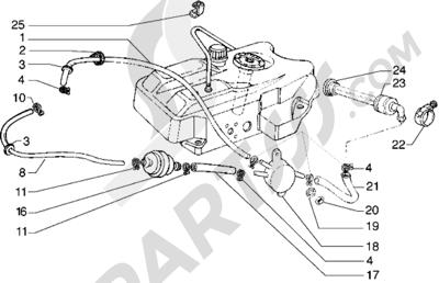 Piaggio Hexagon GTX 180 1998-2005 Bomba combustible