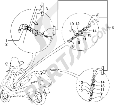 Piaggio Hexagon GTX 180 1998-2005 Cerraduras