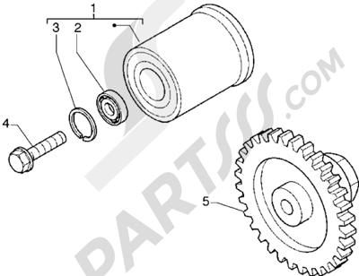 Piaggio Hexagon GTX 180 1998-2005 Limitador de par de torsion - Polea amortiguador (Para vehículos 180cc)
