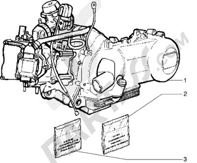 Piaggio Hexagon GTX 180 1998-2005 Motor