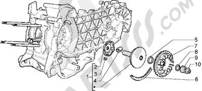 Piaggio Hexagon GTX 180 1998-2005 Polea motriz