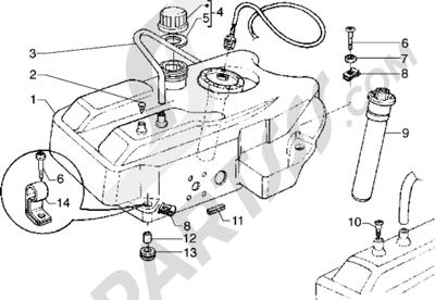 Piaggio Hexagon GTX 180 1998-2005 Tanque carburante