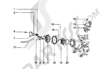 Piaggio Hexagon LX 1998-2005 Culata y racor de admision