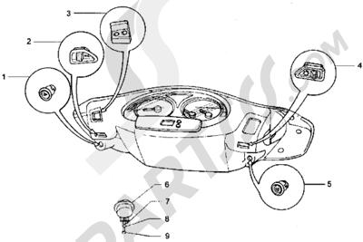 Piaggio Hexagon LX 1998-2005 Dispositivos electricos