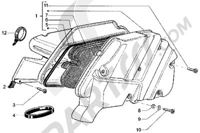Piaggio Hexagon LX 1998-2005 Filtro de aire